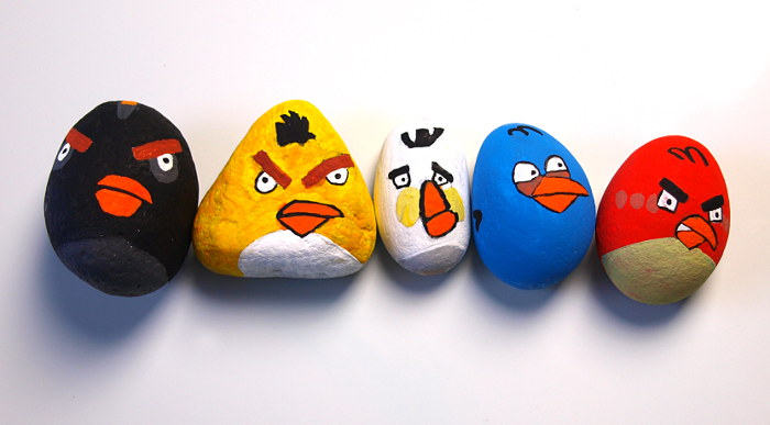 Angry Birds Steine