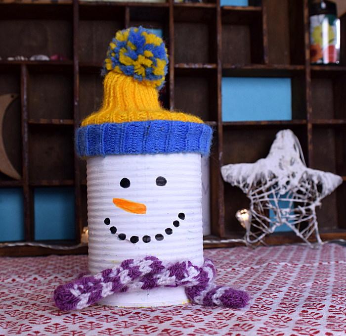 Weihnachtsbasteln schneemann dose - Kindergarten weihnachtsbasteln ...
