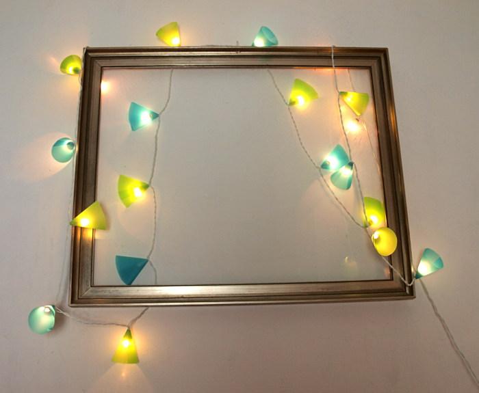 Lichterkette basteln - Wand lichterkette ...